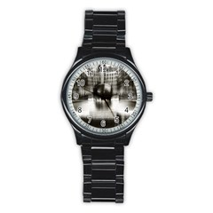 Black And White Hdr Spreebogen Stainless Steel Round Watch by Nexatart