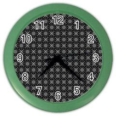Kaleidoscope Seamless Pattern Color Wall Clocks by Nexatart