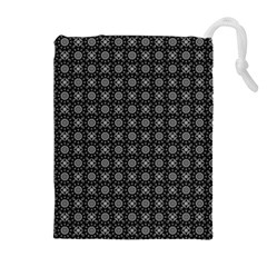 Kaleidoscope Seamless Pattern Drawstring Pouches (extra Large)