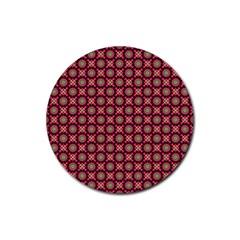 Kaleidoscope Seamless Pattern Rubber Round Coaster (4 Pack)