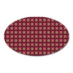 Kaleidoscope Seamless Pattern Oval Magnet