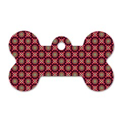 Kaleidoscope Seamless Pattern Dog Tag Bone (one Side)