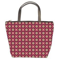 Kaleidoscope Seamless Pattern Bucket Bags