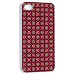 Kaleidoscope Seamless Pattern Apple Iphone 4/4s Seamless Case (white) by Nexatart