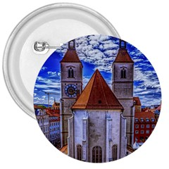 Steeple Church Building Sky Great 3  Buttons
