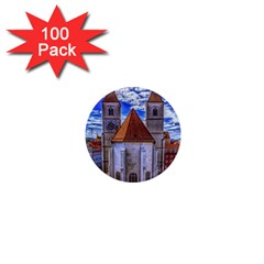 Steeple Church Building Sky Great 1  Mini Magnets (100 Pack)  by Nexatart