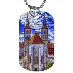 Steeple Church Building Sky Great Dog Tag (one Side)
