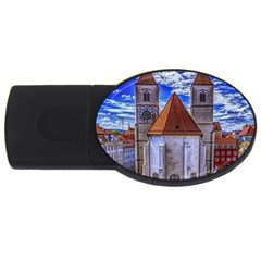 Steeple Church Building Sky Great Usb Flash Drive Oval (2 Gb) by Nexatart