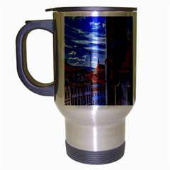 Steeple Church Building Sky Great Travel Mug (silver Gray)