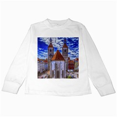 Steeple Church Building Sky Great Kids Long Sleeve T Shirts
