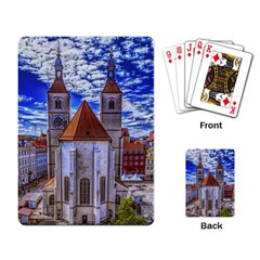 Steeple Church Building Sky Great Playing Card