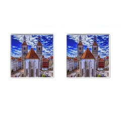 Steeple Church Building Sky Great Cufflinks (square)