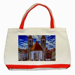 Steeple Church Building Sky Great Classic Tote Bag (red)