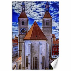 Steeple Church Building Sky Great Canvas 12  X 18