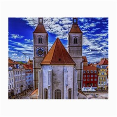 Steeple Church Building Sky Great Small Glasses Cloth (2 Side) by Nexatart