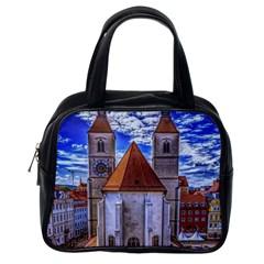 Steeple Church Building Sky Great Classic Handbags (one Side) by Nexatart