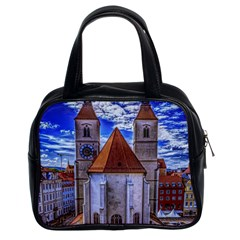 Steeple Church Building Sky Great Classic Handbags (2 Sides)