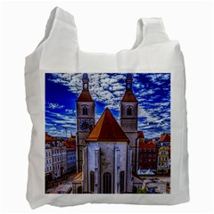 Steeple Church Building Sky Great Recycle Bag (one Side)
