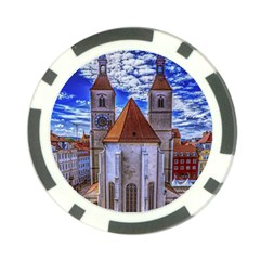 Steeple Church Building Sky Great Poker Chip Card Guard (10 Pack)