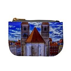 Steeple Church Building Sky Great Mini Coin Purses