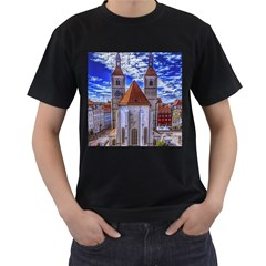 Steeple Church Building Sky Great Men s T Shirt (black)