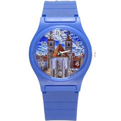 Steeple Church Building Sky Great Round Plastic Sport Watch (s) by Nexatart