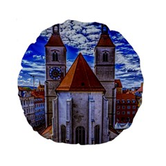 Steeple Church Building Sky Great Standard 15  Premium Round Cushions