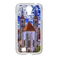 Steeple Church Building Sky Great Samsung Galaxy S4 I9500/ I9505 Case (white)