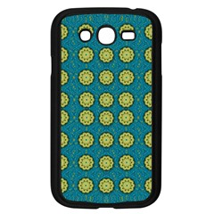 Sunshine Mandalas On Blue Samsung Galaxy Grand Duos I9082 Case (black) by pepitasart