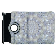 Flower Lace In Decorative Style Apple Ipad 3/4 Flip 360 Case by pepitasart