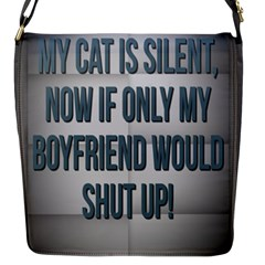 quiet Cat!  Flap Messenger Bag (s) by Awesome66Stuff