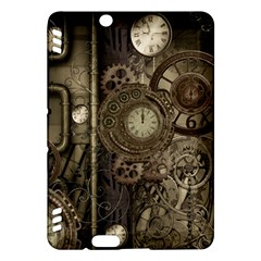 Stemapunk Design With Clocks And Gears Kindle Fire Hdx Hardshell Case by FantasyWorld7