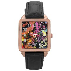 To Infinity And Beyond Rose Gold Leather Watch  by friedlanderWann