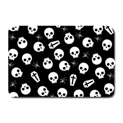 Skull, Spider And Chest    Halloween Pattern Plate Mats by Valentinaart