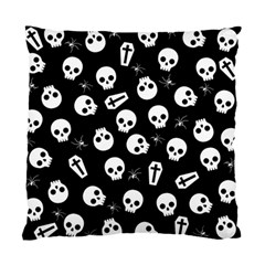 Skull, Spider And Chest    Halloween Pattern Standard Cushion Case (one Side) by Valentinaart