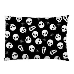 Skull, Spider And Chest    Halloween Pattern Pillow Case by Valentinaart