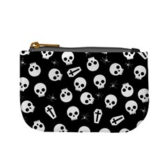 Skull, Spider And Chest    Halloween Pattern Mini Coin Purses by Valentinaart