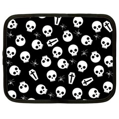Skull, Spider And Chest    Halloween Pattern Netbook Case (xxl)  by Valentinaart