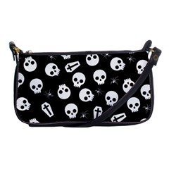 Skull, Spider And Chest    Halloween Pattern Shoulder Clutch Bags by Valentinaart