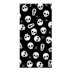 Skull, Spider And Chest    Halloween Pattern Shower Curtain 36  X 72  (stall)  by Valentinaart