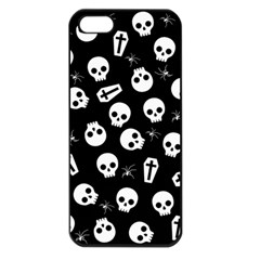 Skull, Spider And Chest    Halloween Pattern Apple Iphone 5 Seamless Case (black) by Valentinaart