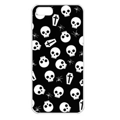 Skull, Spider And Chest    Halloween Pattern Apple Iphone 5 Seamless Case (white) by Valentinaart