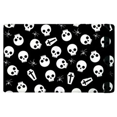 Skull, Spider And Chest    Halloween Pattern Apple Ipad 2 Flip Case by Valentinaart