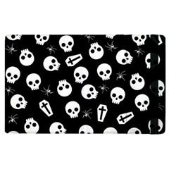 Skull, Spider And Chest    Halloween Pattern Apple Ipad 3/4 Flip Case by Valentinaart