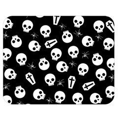 Skull, Spider And Chest    Halloween Pattern Double Sided Flano Blanket (medium)  by Valentinaart