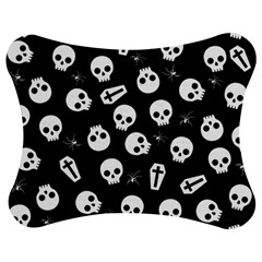 Skull, Spider And Chest    Halloween Pattern Jigsaw Puzzle Photo Stand (bow) by Valentinaart