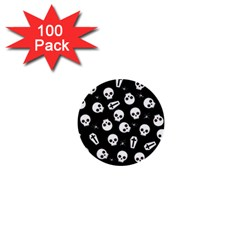 Skull, Spider And Chest    Halloween Pattern 1  Mini Buttons (100 Pack)  by Valentinaart