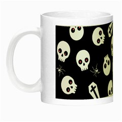 Skull, Spider And Chest    Halloween Pattern Night Luminous Mugs by Valentinaart