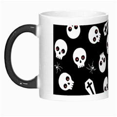 Skull, Spider And Chest    Halloween Pattern Morph Mugs by Valentinaart
