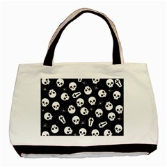 Skull, Spider And Chest    Halloween Pattern Basic Tote Bag by Valentinaart
